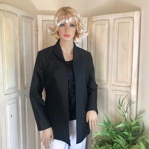 Silky black dress jacket